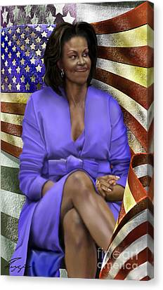 The First Lady-american Pride Canvas Print by Reggie Duffie