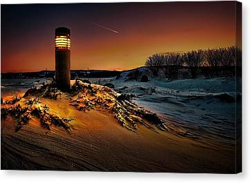 The First Light At Sunset Canvas Print by Jeff S PhotoArt