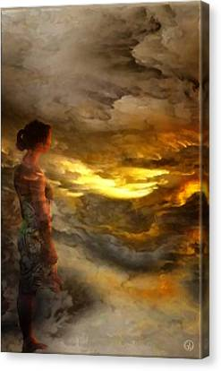 Canvas Print featuring the digital art The First Step by Gun Legler