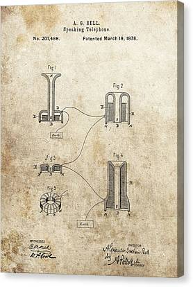 The First Telephone Patent Canvas Print by Dan Sproul