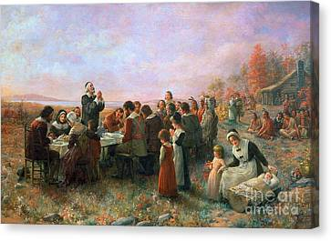 Encbr Canvas Print - The First Thanksgiving by Granger