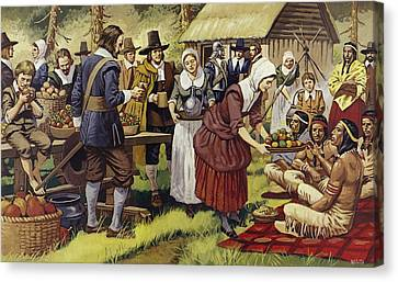 The First Thanksgiving  Canvas Print by Mike White