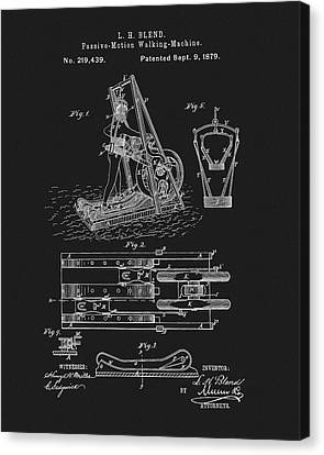 The First Treadmill Patent Canvas Print by Dan Sproul