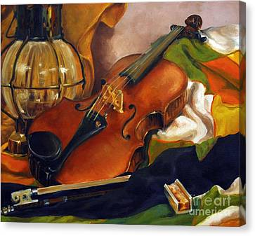 The First Violin Canvas Print by Suzanne McKee