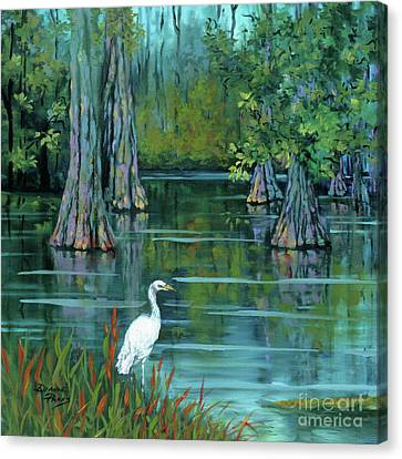 Crane Canvas Print - The Fisherman by Dianne Parks