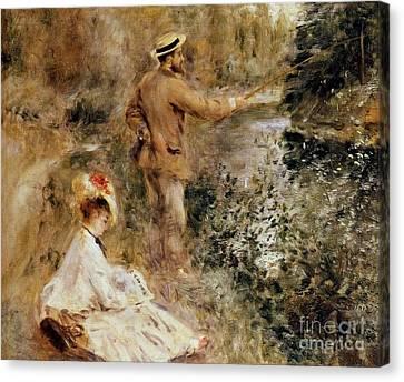 The Fisherman Canvas Print by Renoir
