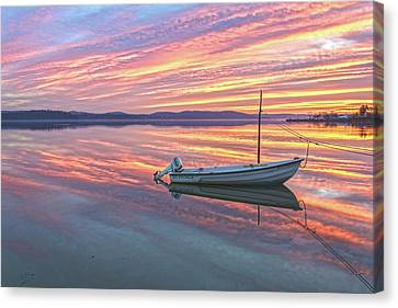 The Fisherman's Boat On A Christmas Morning Sunrise Canvas Print