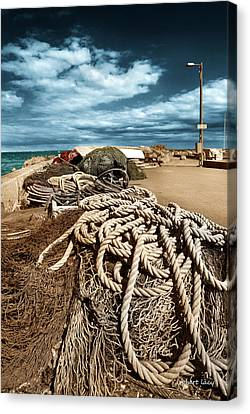 The Fishermans Wharf Canvas Print by Robert Lacy