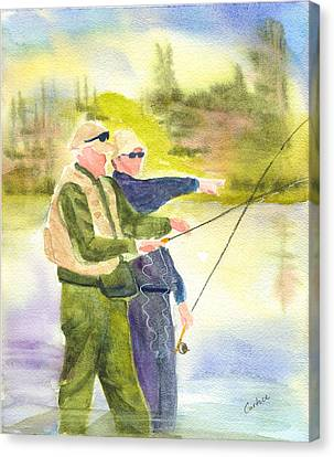 The Fishermen Canvas Print by Carolyn Curtice