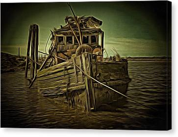 Canvas Print featuring the photograph Mary D. Hume Shipwreak by Thom Zehrfeld