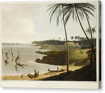The Fishing Cove Near Columbo Canvas Print