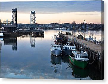 The Fishing Fleet - Portsmouth Canvas Print