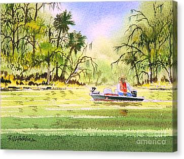 The Fishing Is Done - Heading Home Canvas Print by Bill Holkham