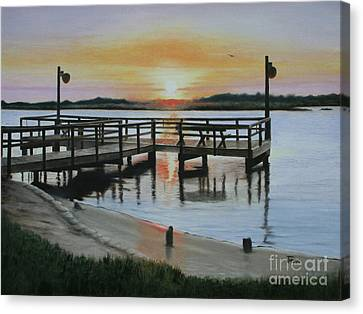 The Fishing Pier Canvas Print by Jimmie Bartlett