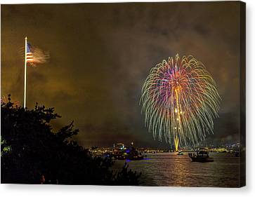 4th July Canvas Print - The Flag Flies by Peter Tellone
