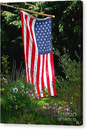 The Flag Canvas Print by Marc Bittan