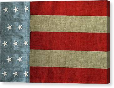 Canvas Print featuring the photograph The Flag by Tom Prendergast