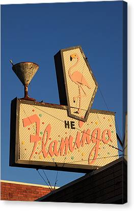 The Flamingo Canvas Print by Troy Montemayor