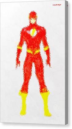 The Flash - Da Canvas Print