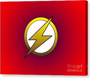 The Flash  Canvas Print by Justin Moore