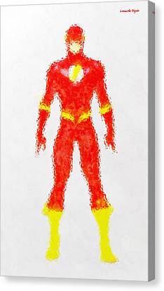The Flash - Pa Canvas Print by Leonardo Digenio