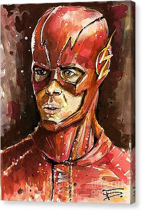 Dc Universe Canvas Print - The Flash by Tal Dvir