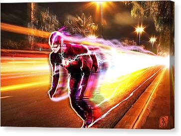 The Lightning Man Canvas Print - The Flash by The DigArtisT