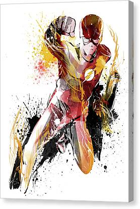 The Flash Canvas Print by Unique Drawing