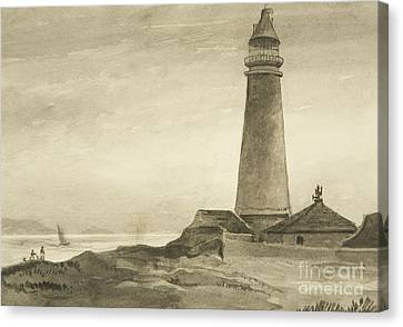 The Flat Holm Lighthouse Canvas Print