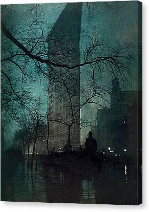 The Flatiron Building Canvas Print by Edward Steichen