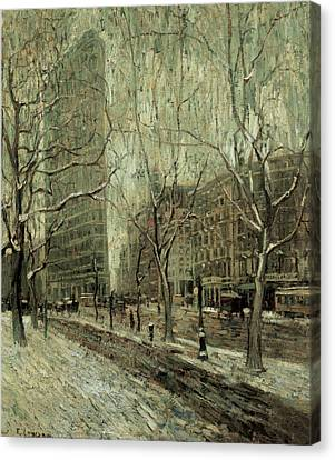 The Flatiron Building New York City Canvas Print by Ernest Lawson
