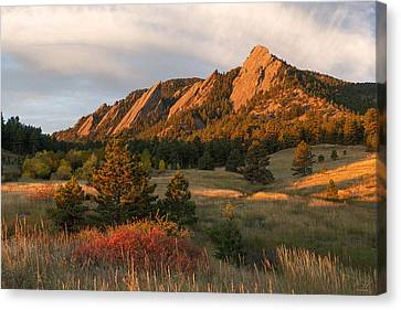 The Flatirons - Autumn Canvas Print by Aaron Spong
