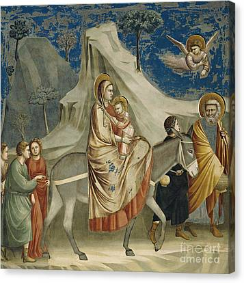 The Flight Into Egypt Canvas Print by Giotto di Bondone
