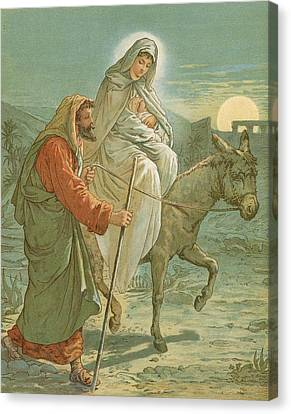 The Flight Into Egypt Canvas Print by John Lawson