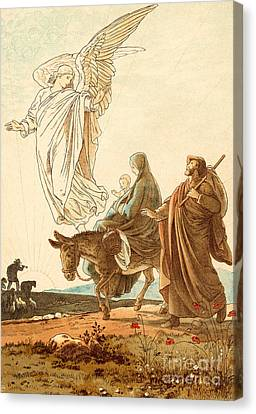 Child Jesus Canvas Print - The Flight Into Egypt by Victor Paul Mohn