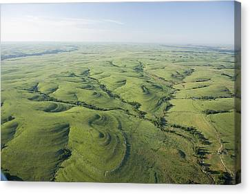 The Flint Hills Of Kansas Canvas Print by Jim Richardson