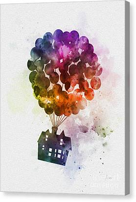 The Floating House Canvas Print by Rebecca Jenkins