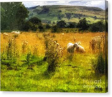 Farm Fields Canvas Print - The Flock by YoursByShores Isabella Shores