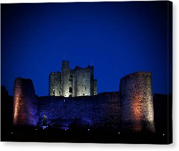 Curtain Wall Canvas Print - The Flood Lit Walls Of Trim Casle by Panoramic Images