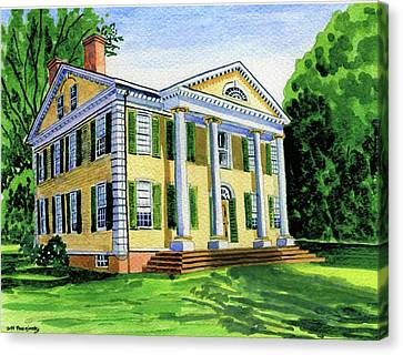 The Florence Griswold House In Old Lyme Ct. Canvas Print by Jeff Blazejovsky