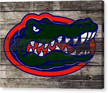 Tebow Canvas Print - The Florida Gators 3a by Brian Reaves