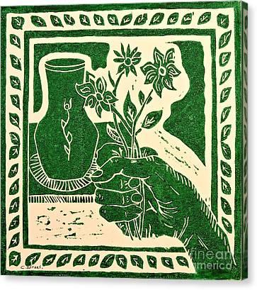 The Florist Canvas Print