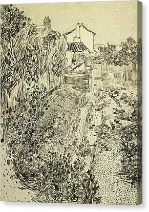 The Flower Garden, 1888 Canvas Print