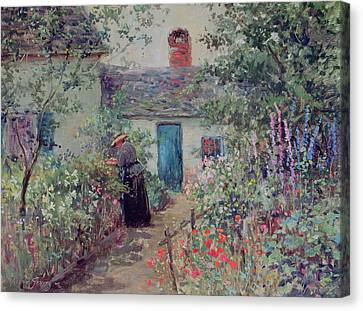Picking Canvas Print - The Flower Garden by Abbott Fuller Graves