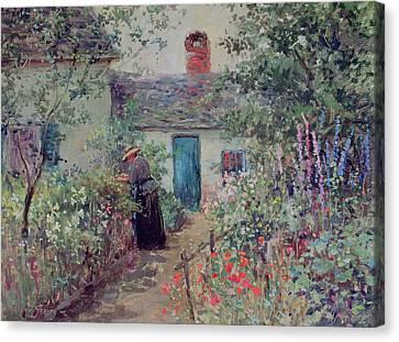 The Flower Garden Canvas Print by Abbott Fuller Graves