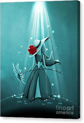 The Flower Girl - Remixed Canvas Print