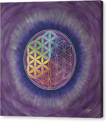 The Flower Of Life Canvas Print by Silvia Flores