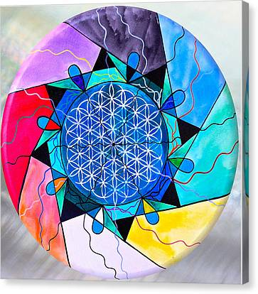 Spiritual Art Canvas Print - The Flower Of Life by Teal Eye Print Store
