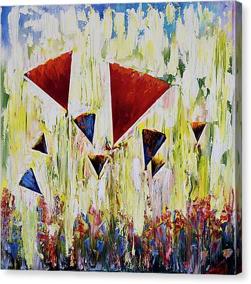 The Flower Party Canvas Print