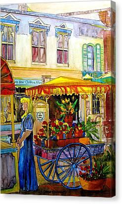 The Flowercart Canvas Print